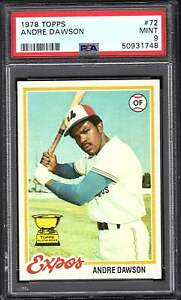 1978 Topps # 72 Andre Dawson PSA 9 MINT combined Shipping