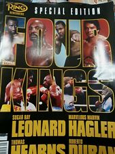 The Ring Magazine Remembers Special Edition Four Kings.  Sugar Rat Leonard...