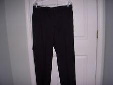 NWT - Greg Norman Pro Fit Men's Black Flat Front Golf/ Dress Pants-  (36 x 32)