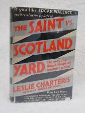 Leslie Charteris THE SAINT vs. SCOTLAND YARD 1932 A. L. Burt, NY Early Reprint