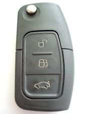Replacement 3 button flip key case for Ford C Max S Max Focus Mondeo remote fob