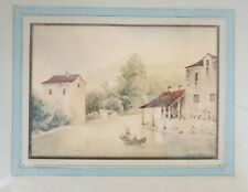 Antique Dutch Drawing Watercolor Antoine Jules PELLETIER (c 1825)