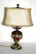 OTTONE antico-ceramica porcellana sostanza Ombrello Lampada da tavolo 2 fiamma 52 cm di altezza