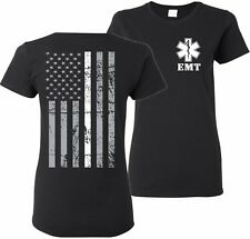 Ladies Thin White Line EMT Paramedic Emergency Medical Services T-Shirt Tee EMS