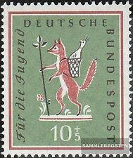BRD 286 gestempelt 1958 Jugend: Volkslieder