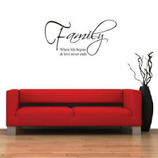 Removable Family Lettering Wall Decal Sticker Symbol Art Decor Mural Quote Words