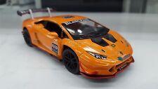 Lamborghini Huracan LP620-2 Super Trofeo Arancione KINSMART modello di auto 1/36