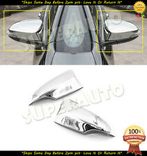 For 2013-2017 Toyota Corolla / 12-15 Yaris Chrome Door Mirror Covers with Signal
