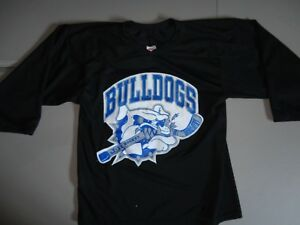 New Without Tags CCM SEWN FRONT Fall River Bulldogs Hockey Jersey Mens S