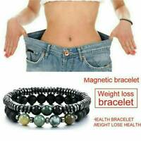 Magnetic Therapy Bracelet Beads Hematite Stone Health Care Weight Loss Jewelry*1