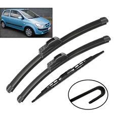 3PCS/Set Front Rear Windshield Wiper Blades Kit Fit For Hyundai Getz 2002-2009
