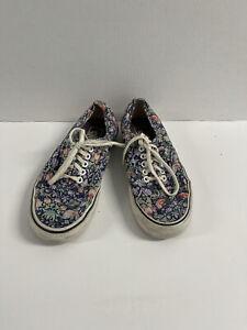 Vans Floral Unisex Slip On Sneaker Shoes Mens size 7, Women's Size 8.5