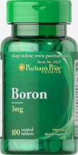 Puritan's Pride Boron 3 mg - 100 Tablets (free shipping)