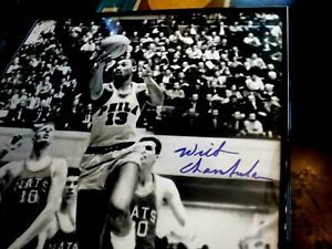WILT CHAMBERLAIN 1990's Show Signed 16x20 Framed Photo-JSA Authenticated #Y36288