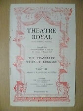 Theatre Royal Programme 1951- THE TRAVELLER WITHOUT LUGGAGE by Anouilh