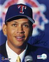 Alex Rodriguez Psa Dna Coa Hand Signed 8x10 Photo Autograph