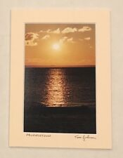 New Tom Johnson Signed 5x7 Photo Matted Autograph Provincetown Sunset Art