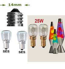 2 x 25w Lava lamp Pygmy Replacement Bulbs SES Small Edison Screw 300° Tolerance