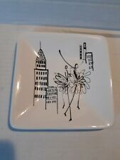 "🌟 White Ceramic Soap / Trinket Dish City Scenes, NYC, 5.5"" (B5)"