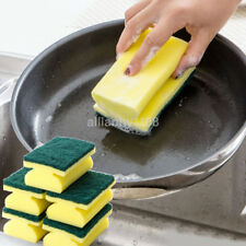 5Pcs Washing Sided Cleaning Dish Scrub Kitchen Wipe Brush Sponge Scouring CA