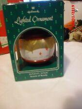 Hallmark Lighted Cardinal Ornament with winter scene  1987?