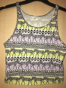Aztec Print S-XL CLEARANCE Women/'s Multicolor Cropped Top with a Southwest