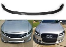 Universal Black Carbon Fiber Flexible Front Bumper Splitter Valance Air Dam New
