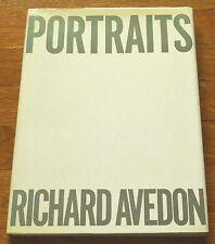 SIGNED - RICHARD AVEDON - PORTRAITS - 1976 HC 1ST EDITION & 1ST PRINTING - NICE
