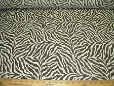 ~11 YDS~TIGER ZEBRA JUNGLE ANIMAL STRIPES~WOVEN UPHOLSTERY FABRIC FOR LESS~
