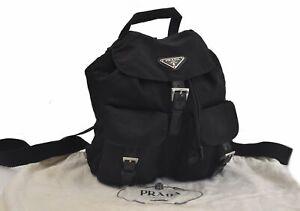 Authentic PRADA Nylon Backpack Black B8331