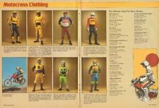 1978 Motocross Clothing Motorcycle Boots Goggles Leathers 2-Page Vintage Ad