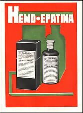 HEMO-EPATINA GLANDOLI ANEMIA FARMACIA ISTITUTO SIEROTERAPICO NAPOLI MILANO 1935