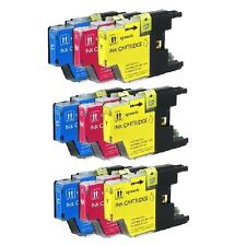 9 PK COLOR NEW Combo Ink Set for LC75 XL Brother MFC-J625DW MFC-J825DW MFC-J430W