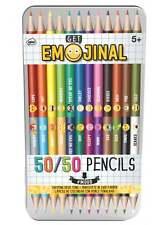 Get Emojinal Emoji 50 50  Colouring Pencils Coloured Pencils Art Tin Gift Kids