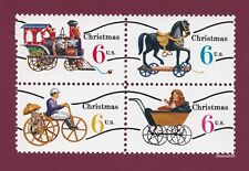 Scott #1415a-18a Christmas Toys - Precancel 6c (Block of 4) 1970 Mint NH