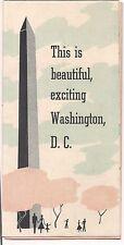 1956 Washington DC Travel Brochure 3 Fold American Express Travelers Cheques 3x6