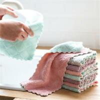 Super Absorbent Microfiber Towel Kitchen Wash Home Cleaning Wash Clean Cloth 1pc
