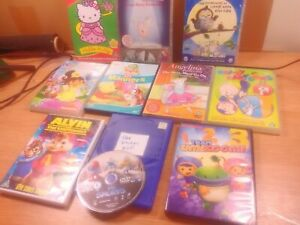Bundle of 9 childrens mixed  DVDs-preowned U RATING -PAL REGION-FREE SHIPPING
