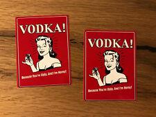 2x Wodka Aufkleber Bar Garage Bollerwagen Tuning Party Fun Saufen Alkohol #406