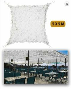 Filet de camouflage Blanc Renforcé acier 5 x 5m
