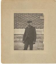 Antique Late 1800's Photograph of Man with Beard and Gloves