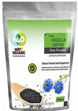 Black Seed Powder - Pure Organic Black Cumin Kalonji Nigella Sativa 100gm