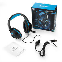 New Wired Adjustable Earphone Headphone Headset with Mic for XBOX One PS4