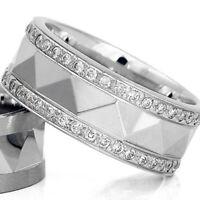 Silber 925 Trauringe Eheringe Verlobungsringe mit Gravur und Swarovski Stein D22