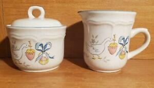 International China MARMALADE Creamer & Sugar bowl, 8868, Stoneware, Excellent