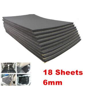 18pcs 6mm Car Firewall Sound Deadener Heat Insulation Deadening Mat Accessories