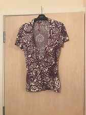 Women's purple printed top from s.Oliver in a size 16.