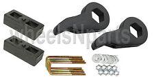"""Lift Kit Chevy Black Torsion Keys 2"""" Cast Steel Blocks 1992-99 4x4 8 Lug Trucks"""