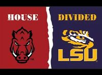 ARKANSAS RAZORBACKS vs LSU TIGERS 3x5 FEET Flag Banner HOUSE DIVIDED SEC NEW