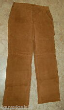 Womens Leather Pants MOTORCYCLE Brown LINED 8 PETITE Chadwicks WIDE LEG Riding